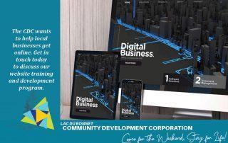 The Lac du Bonnet CDC is offering Website Design Training to Lac du Bonnet Businesses
