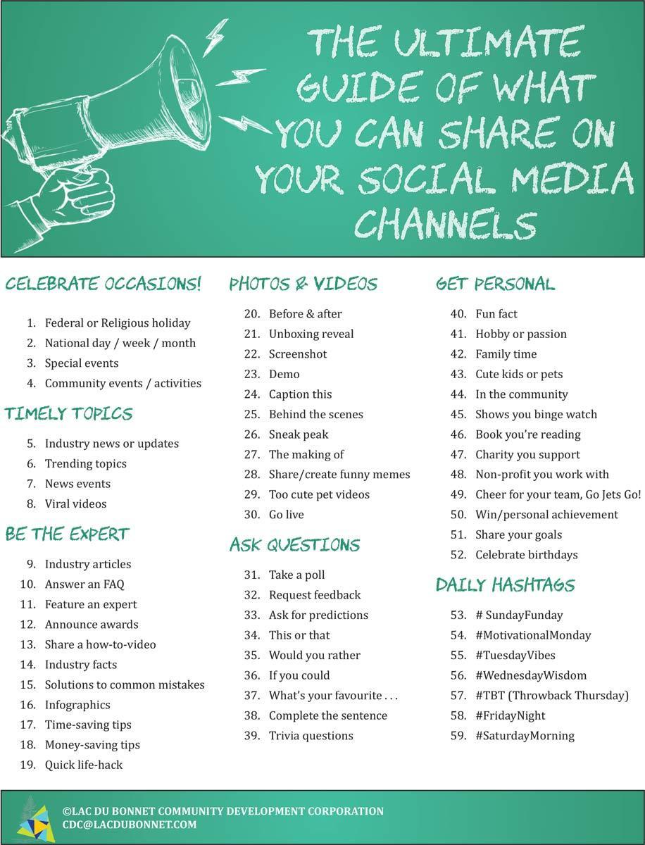 Social Media Post Cheat Sheet p.1