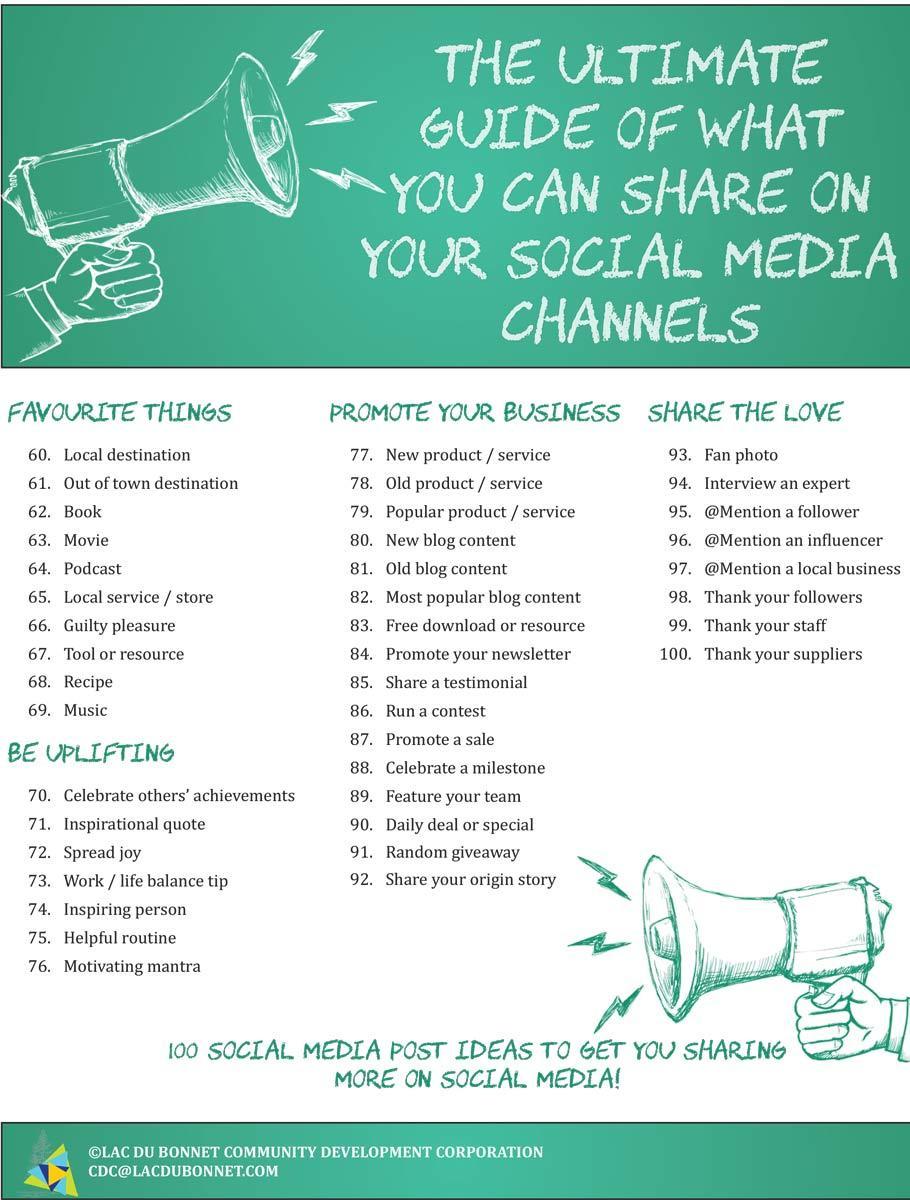 Social Media Post Cheat Sheet p.2